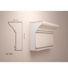 Cornisa Polistiren exterior acoperita cu Rasina LC02 LC 02